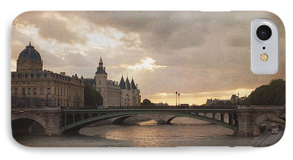 Sunset In Paris IPhone Case by Heidi Hermes