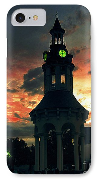 IPhone Case featuring the digital art Sunset In Red Bluff by Irina Hays
