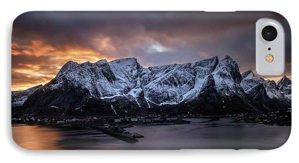 Sunset In Reine Phone Case by Swen Stroop