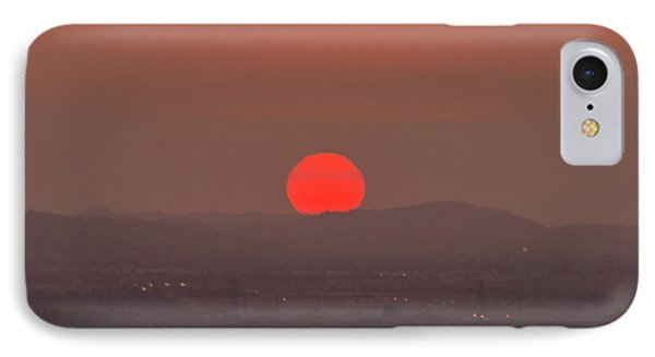Sunset In Smog IPhone Case by Hyuntae Kim