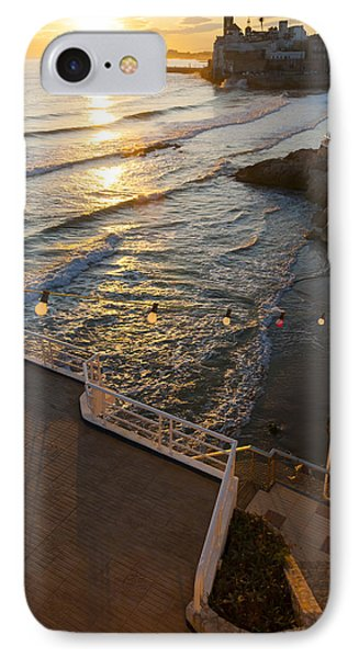 Sunset In The Beautiful Sitges IPhone Case by Luis Martinez