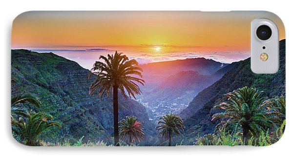 Sunset In The Canary Islands IPhone Case by JR Photography