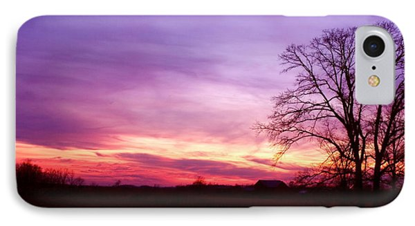 Sunset In The Country Phone Case by Amanda Kiplinger