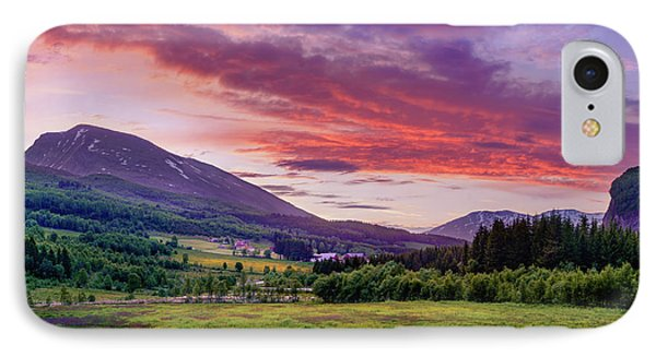 IPhone Case featuring the photograph Sunset In The Meadow by Dmytro Korol