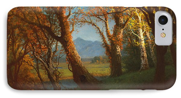 Sunset In The Nebraska Territory Phone Case by Albert Bierstadt