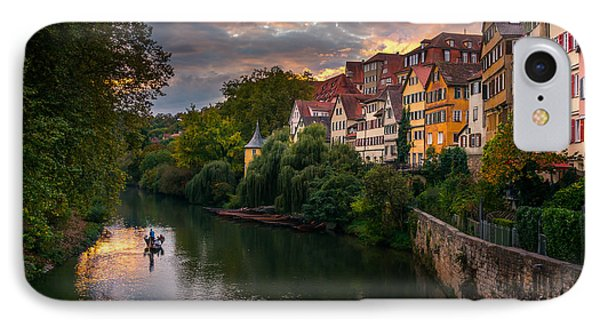 City Sunset iPhone 7 Case - Sunset In Tubingen by Dmytro Korol