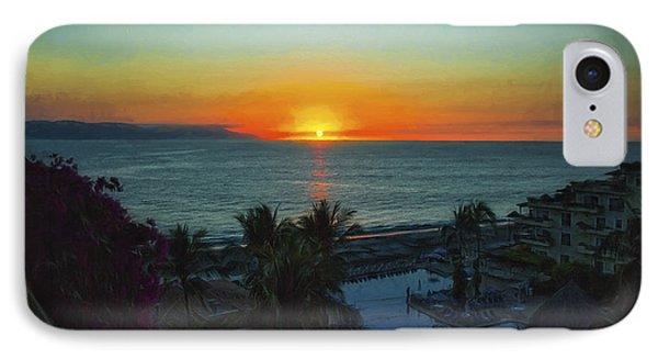 Sunset In Vallarta  ... IPhone Case by Chuck Caramella