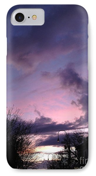 Sunset In Winter Skies  IPhone Case by Clay Cofer