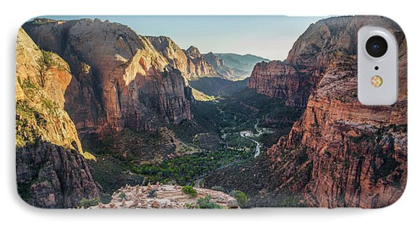 Sunset In Zion National Park IPhone Case by JR Photography