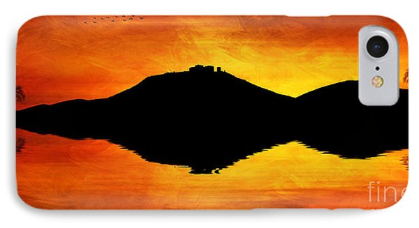 IPhone Case featuring the digital art Sunset Island by Ian Mitchell