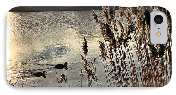 Sunset Lake  IPhone Case by Kathy Spall