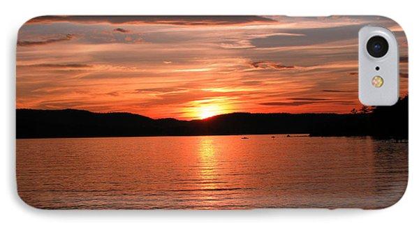 Sunset-lake Waukewan 1 Phone Case by Michael Mooney