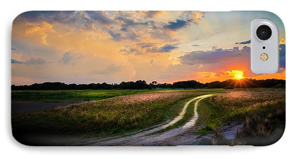 Sunset Lane IPhone Case by Marvin Spates