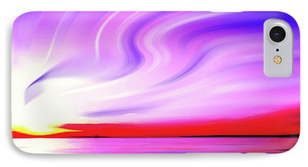 Sunset Light Painting At Edmonds Washington Waterfront IPhone Case