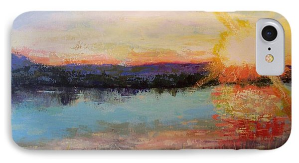 IPhone Case featuring the painting Sunset by Marlene Book