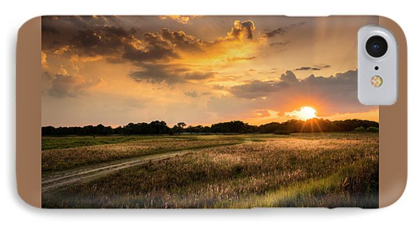Sunset Meadow IPhone Case by Marvin Spates