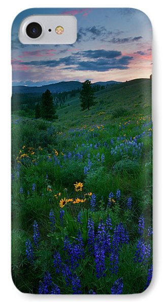 Sunset Meadow Trail Phone Case by Mike  Dawson