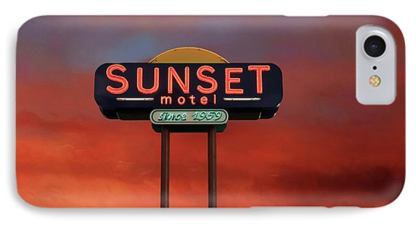 IPhone Case featuring the photograph Sunset Motel by Donna Kennedy