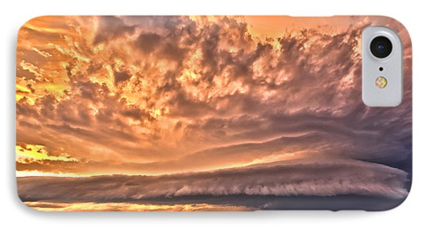 IPhone Case featuring the photograph Sunset Mothership by James Menzies