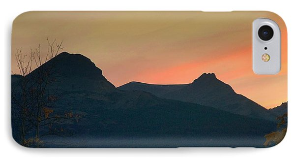 Sunset Mountain Silhouette IPhone Case