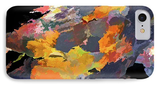 IPhone Case featuring the mixed media Sunset Of The Gods 4 by Lynda Lehmann