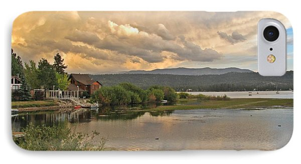 Sunset On Big Bear Lake Phone Case by Traci Lehman