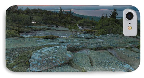 IPhone Case featuring the photograph Sunset On Cadillac Mountain by Stephen  Vecchiotti