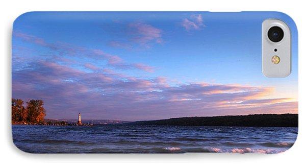 Sunset On Cayuga Lake Ithaca Phone Case by Paul Ge