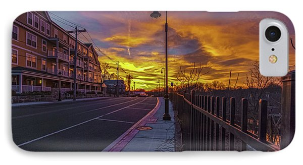 Sunset On Eliot St Milton Ma IPhone Case by Brian MacLean