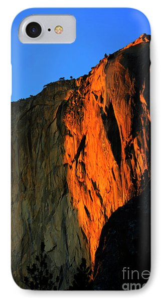 Sunset On Horsetail Fall Phone Case by Jim And Emily Bush