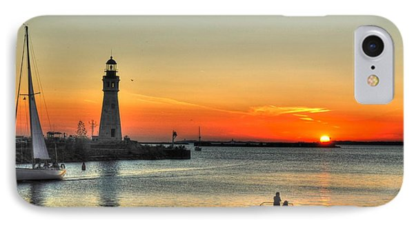 Sunset On Lake Erie IPhone Case by Michael Frank Jr