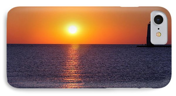 Sunset On Lake Michigan IPhone Case by Bruce Patrick Smith