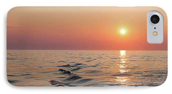 Sunset On Lake Michigan IPhone Case by Melanie Alexandra Price