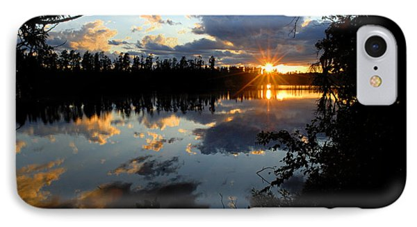 Sunset On Polly Lake IPhone Case by Larry Ricker