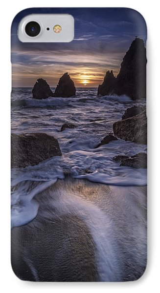 Sunset On Rodeo Beach IPhone Case by Rick Berk