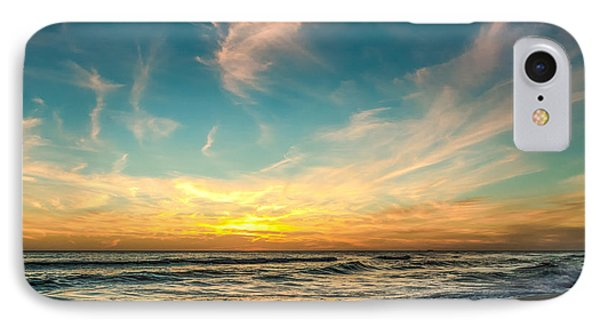 Sunset On The Beach Phone Case by Phillip Burrow