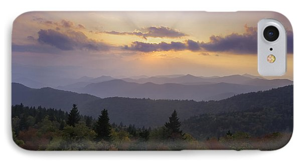 Sunset On The Blue Ridge Parkway Phone Case by Rob Travis