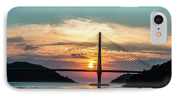 Sunset On The Bridge IPhone Case by Hyuntae Kim