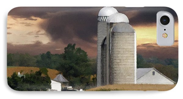Sunset On The Farm IPhone Case by David Dehner