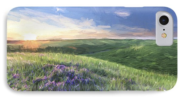 Sunset On The Farm II IPhone Case by Jon Glaser
