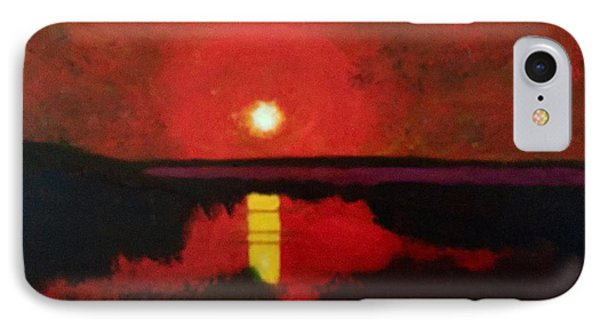 Sunset On The Lake IPhone Case by Donald J Ryker III