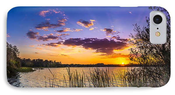 Sunset On The Lake IPhone Case by Marvin Spates