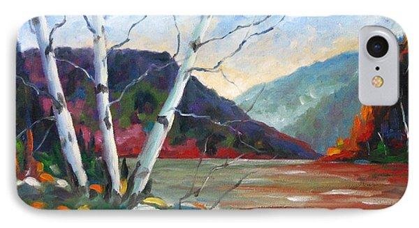 Sunset On The Lake Phone Case by Richard T Pranke