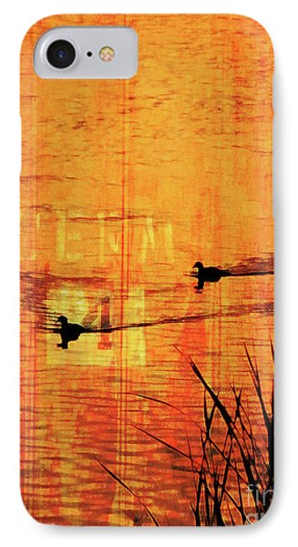 Sunset On The Lake Phone Case by Robert Ball