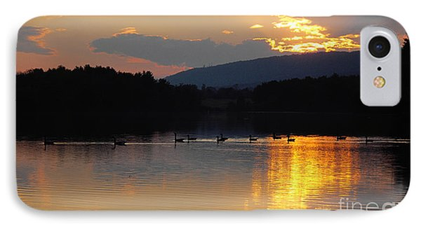 IPhone Case featuring the photograph Sunset On The Lake by Vilas Malankar