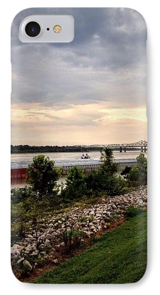Sunset On The Mississippi Phone Case by Jen McKnight