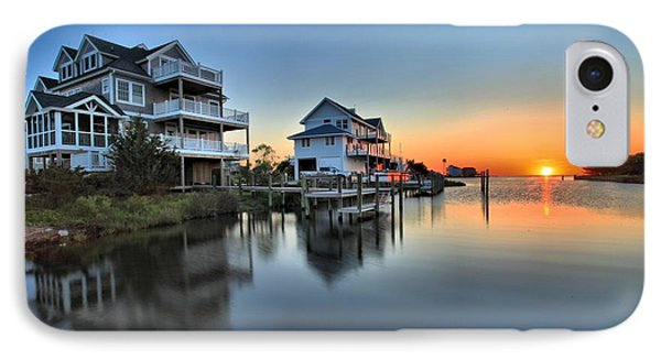Sunset On The Obx Sound IPhone Case by Adam Jewell