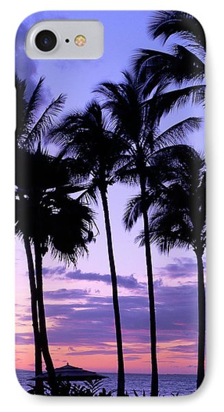 Sunset On The Palms Phone Case by Debbie Karnes
