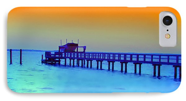 Sunset On The Pier IPhone Case by Bill Cannon