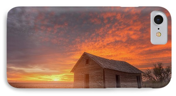 Sunset On The Prairie  IPhone Case by Darren White